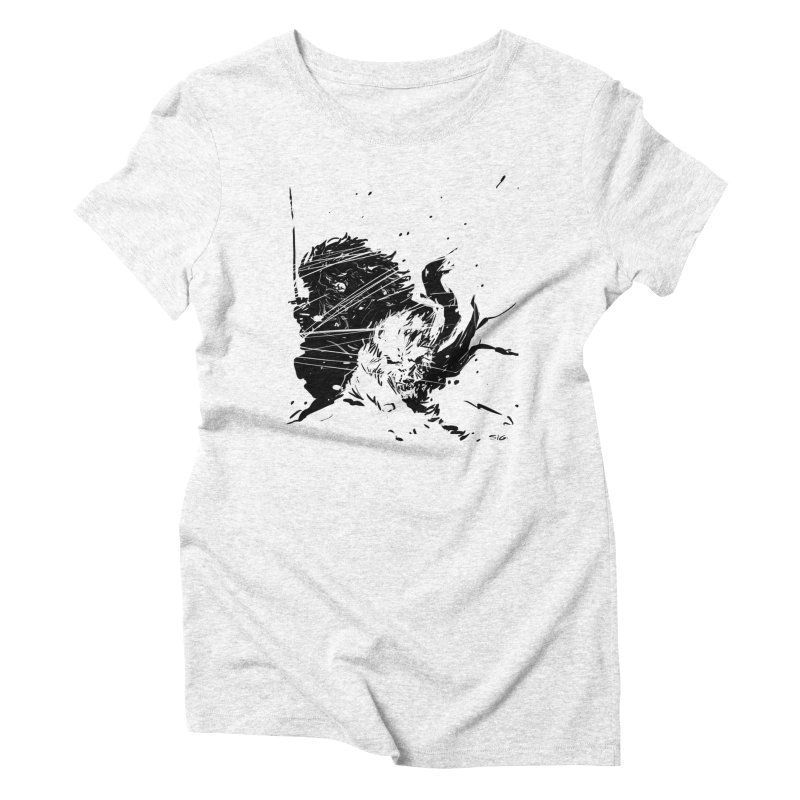 The Crow and the Wolf Women's Triblend T-shirt by Sigmund Torre