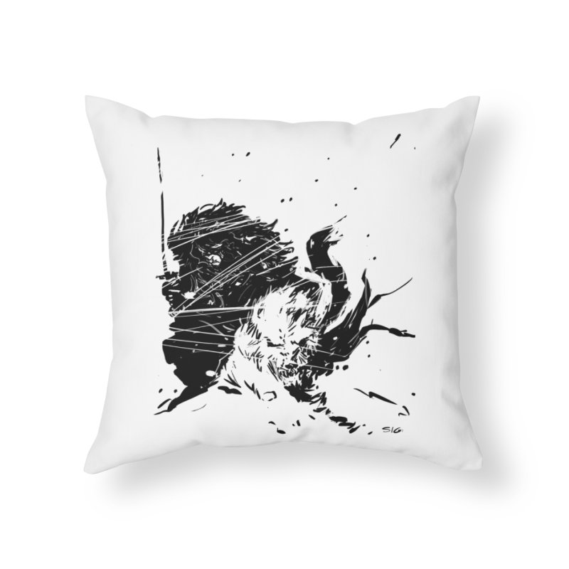 The Crow and the Wolf Home Throw Pillow by Sigmund Torre