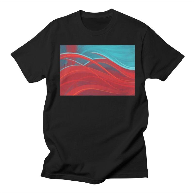 red Men's Regular T-Shirt by Sigmund Torre
