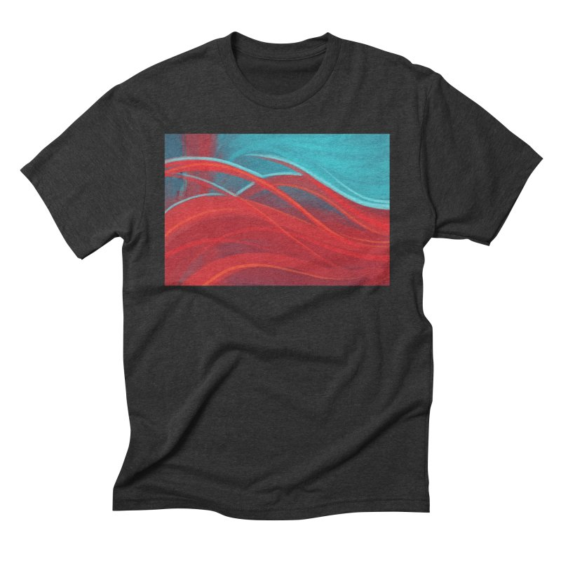 red Men's Triblend T-Shirt by Sigmund Torre
