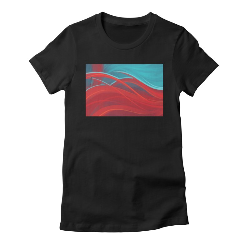 red Women's Fitted T-Shirt by Sigmund Torre