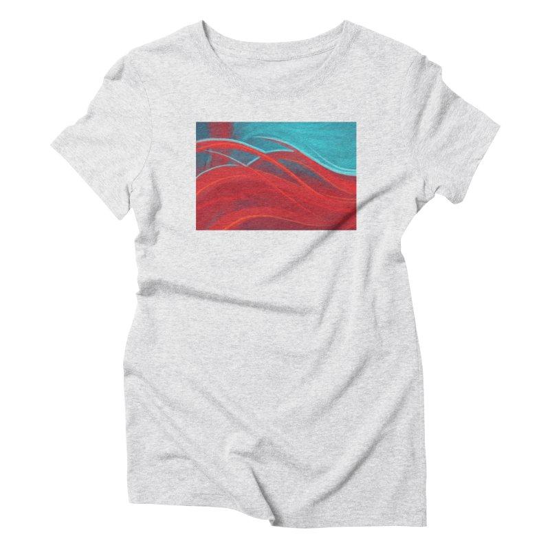 red Women's Triblend T-Shirt by Sigmund Torre