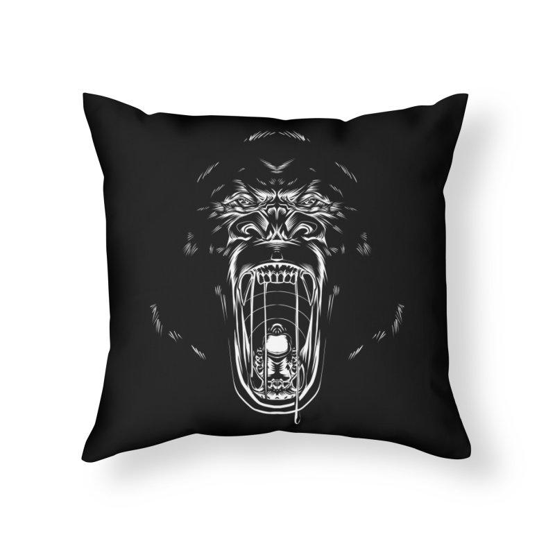 Gorilla Home Throw Pillow by Sigmund Torre