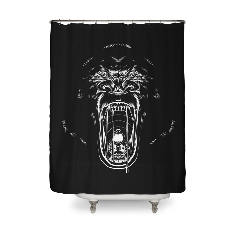 Gorilla Home Shower Curtain by Sigmund Torre