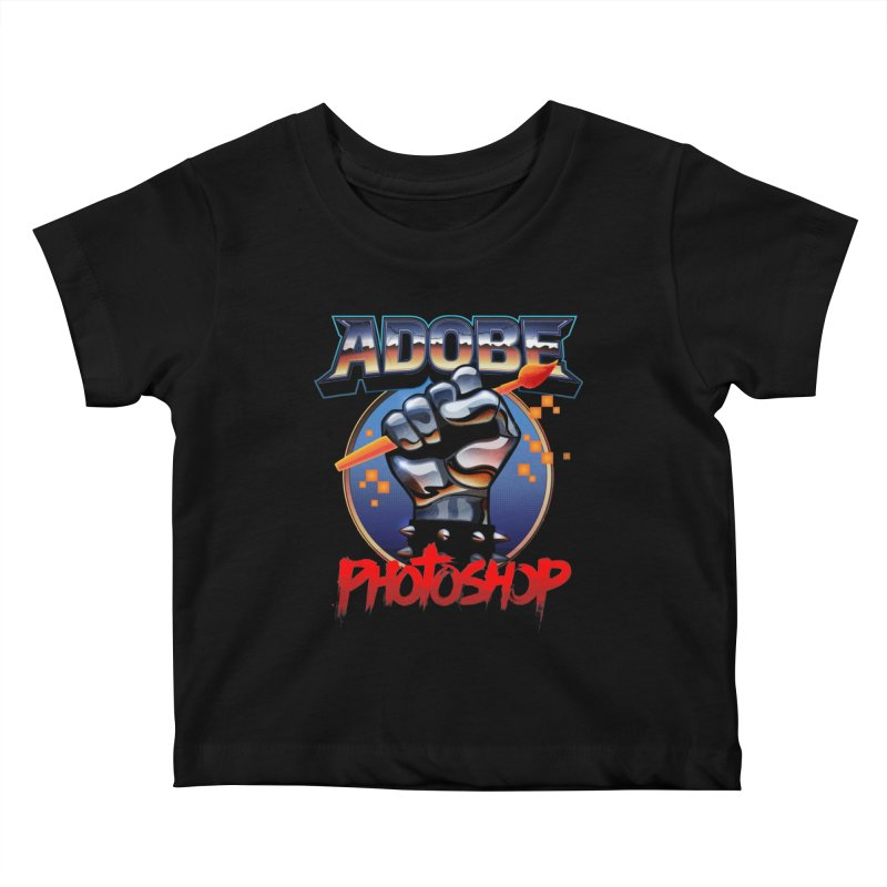 Heavy Metal Photoshop Kids Baby T-Shirt by Signalnoise Threadless Store