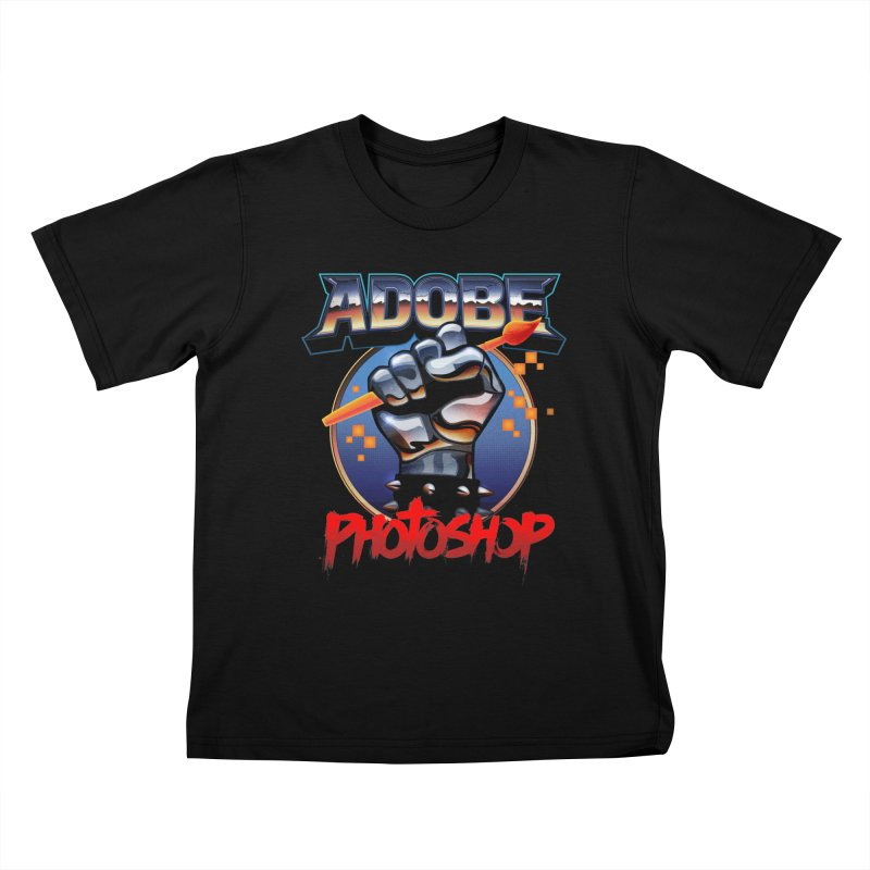 Heavy Metal Photoshop Kids T-Shirt by Signalnoise Threadless Store