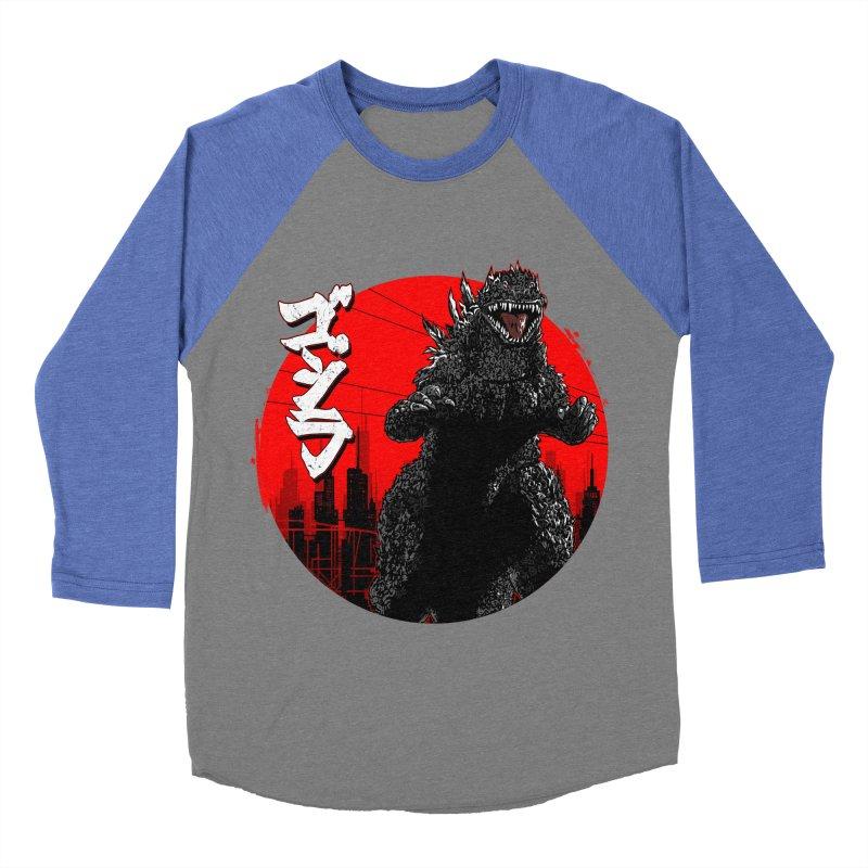 GOJIRA KANJI Men's Baseball Triblend T-Shirt by silenTOP Artist Shop