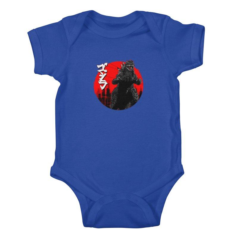 GOJIRA KANJI Kids Baby Bodysuit by silenTOP Artist Shop