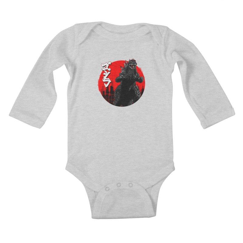 GOJIRA KANJI Kids Baby Longsleeve Bodysuit by silenTOP Artist Shop