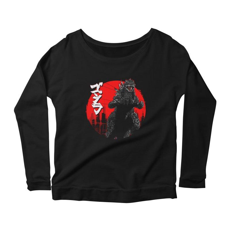 GOJIRA KANJI Women's Scoop Neck Longsleeve T-Shirt by silenTOP Artist Shop
