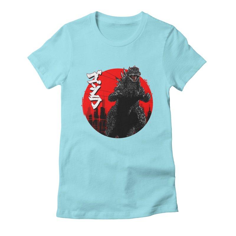 GOJIRA KANJI Women's Fitted T-Shirt by silenTOP Artist Shop