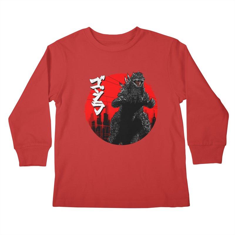 GOJIRA KANJI Kids Longsleeve T-Shirt by silenTOP Artist Shop