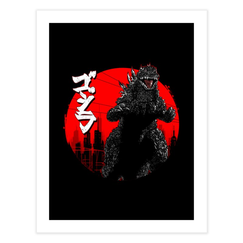 GOJIRA KANJI Home Fine Art Print by silenTOP Artist Shop