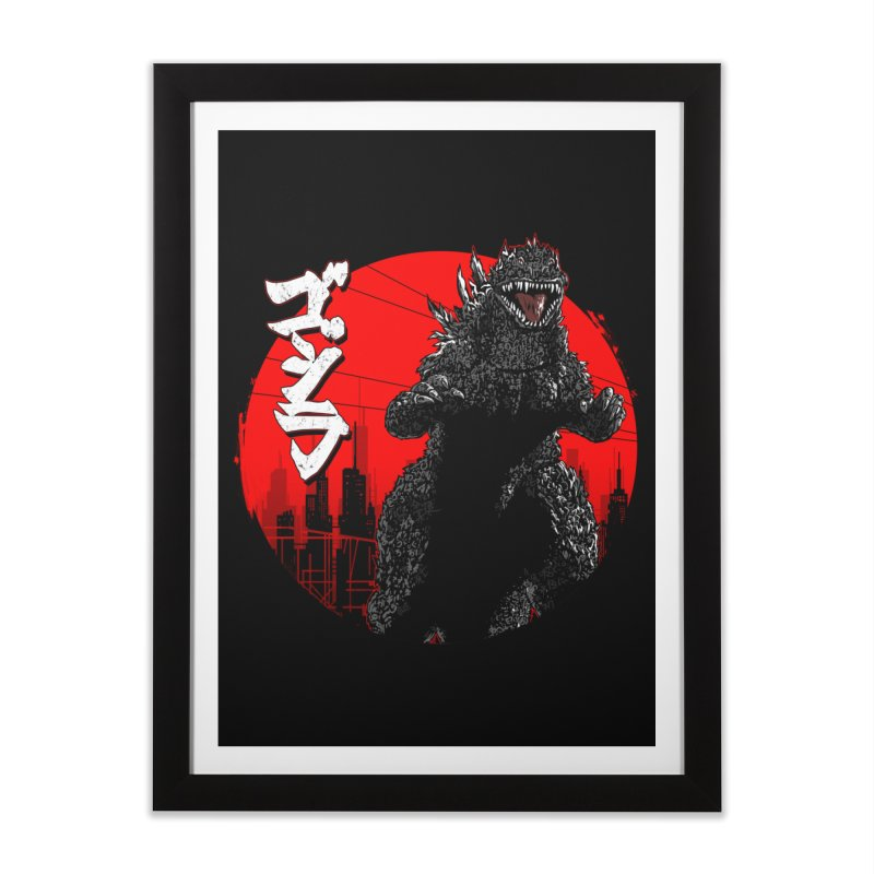 GOJIRA KANJI Home Framed Fine Art Print by silenTOP Artist Shop