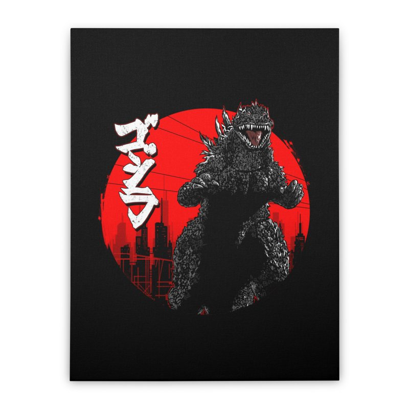 GOJIRA KANJI Home Stretched Canvas by silenTOP Artist Shop