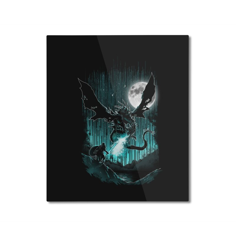 MEET THE MYTH Home Mounted Aluminum Print by silenTOP Artist Shop