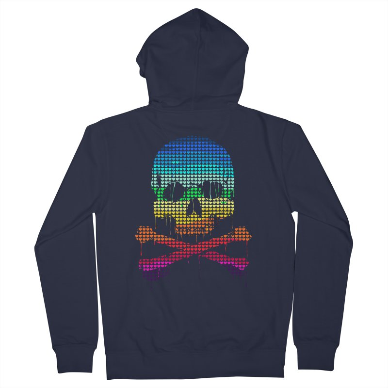 DEADLY IN LOVE WITH COLORS Men's Zip-Up Hoody by silenTOP Artist Shop