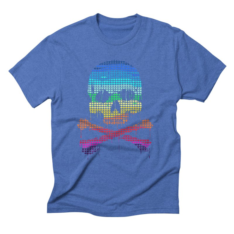 DEADLY IN LOVE WITH COLORS Men's Triblend T-Shirt by silenTOP Artist Shop