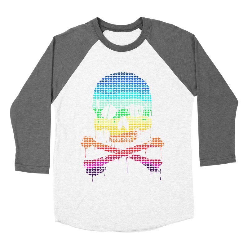 DEADLY IN LOVE WITH COLORS Women's Baseball Triblend T-Shirt by silenTOP Artist Shop