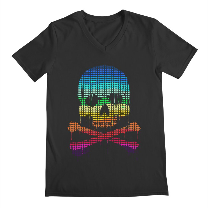 DEADLY IN LOVE WITH COLORS Men's V-Neck by silenTOP Artist Shop
