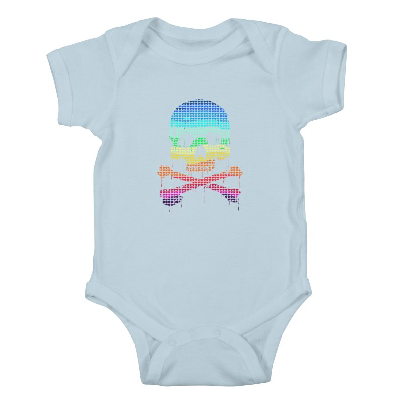 DEADLY IN LOVE WITH COLORS Kids Baby Bodysuit by silenTOP Artist Shop
