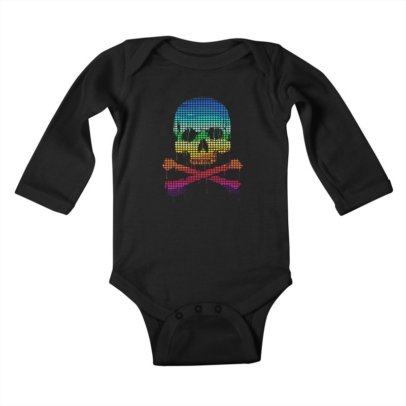 DEADLY IN LOVE WITH COLORS Kids Baby Longsleeve Bodysuit by silenTOP Artist Shop