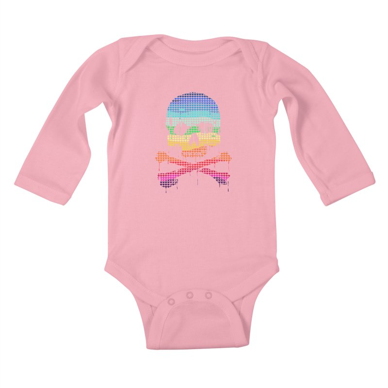 DEADLY IN LOVE WITH COLORS Kids Baby Longsleeve Bodysuit by silenTOP Artist Shop