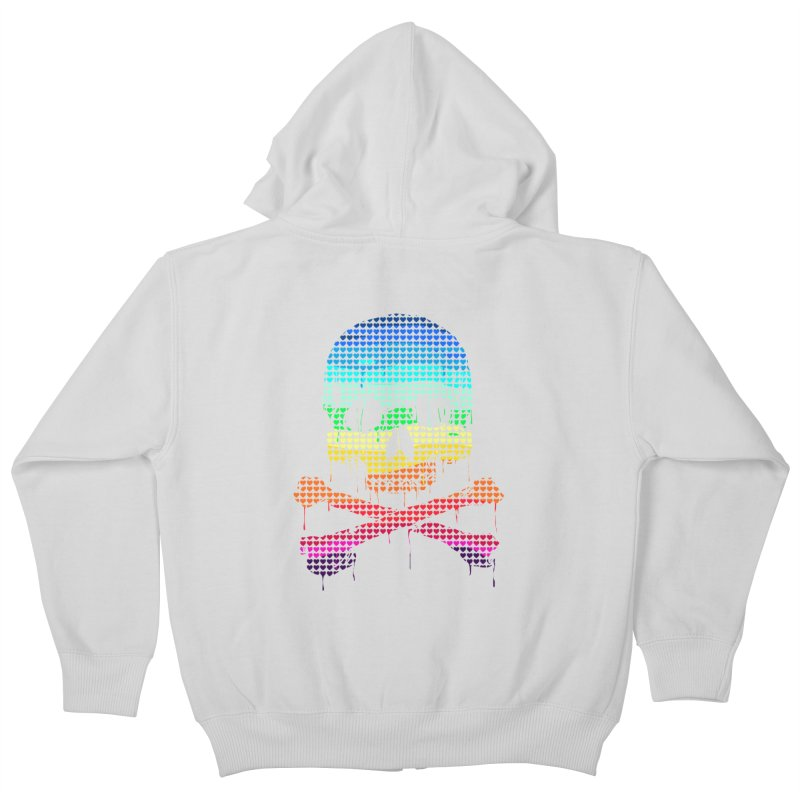 DEADLY IN LOVE WITH COLORS Kids Zip-Up Hoody by silenTOP Artist Shop