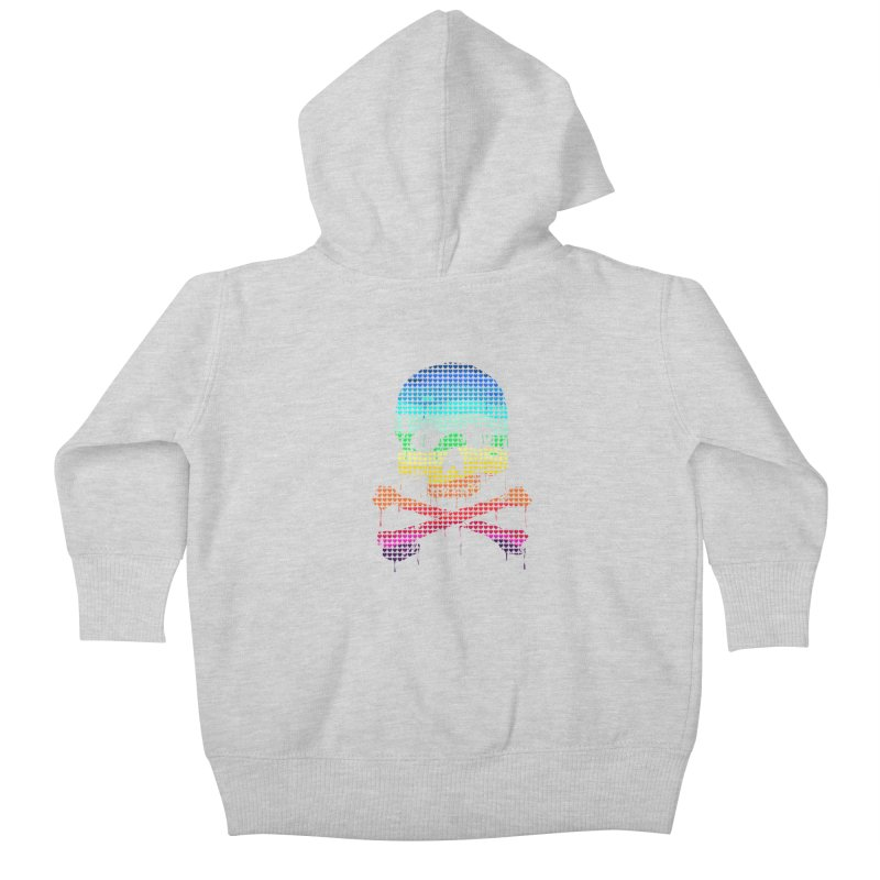 DEADLY IN LOVE WITH COLORS Kids Baby Zip-Up Hoody by silenTOP Artist Shop