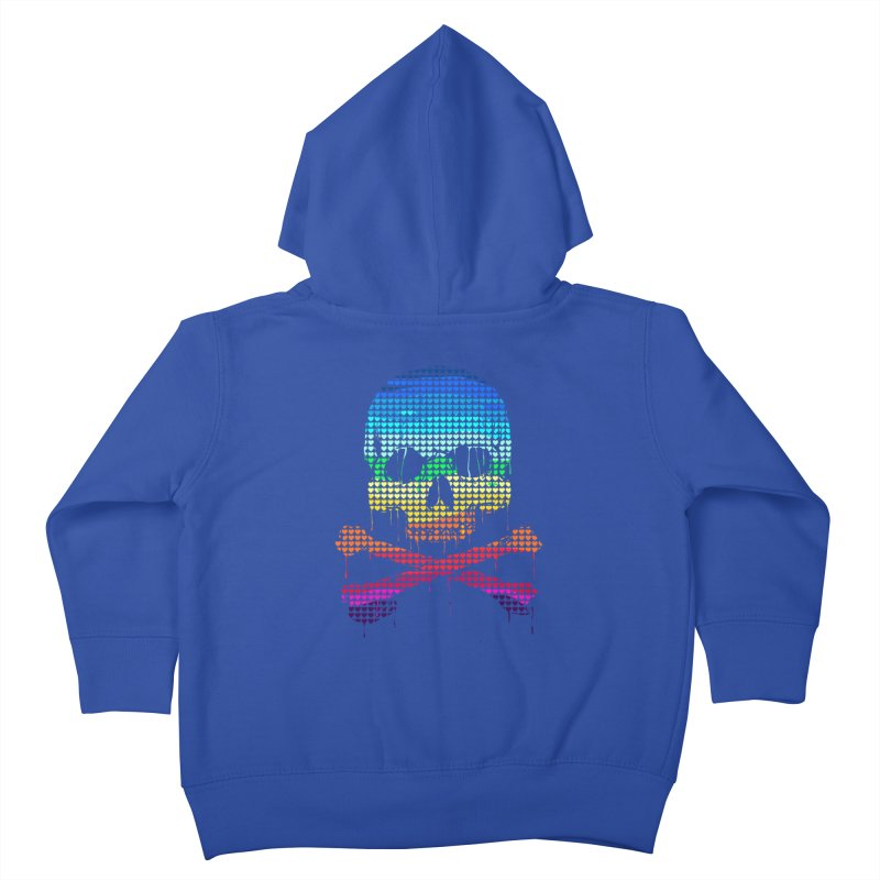 DEADLY IN LOVE WITH COLORS Kids Toddler Zip-Up Hoody by silenTOP Artist Shop