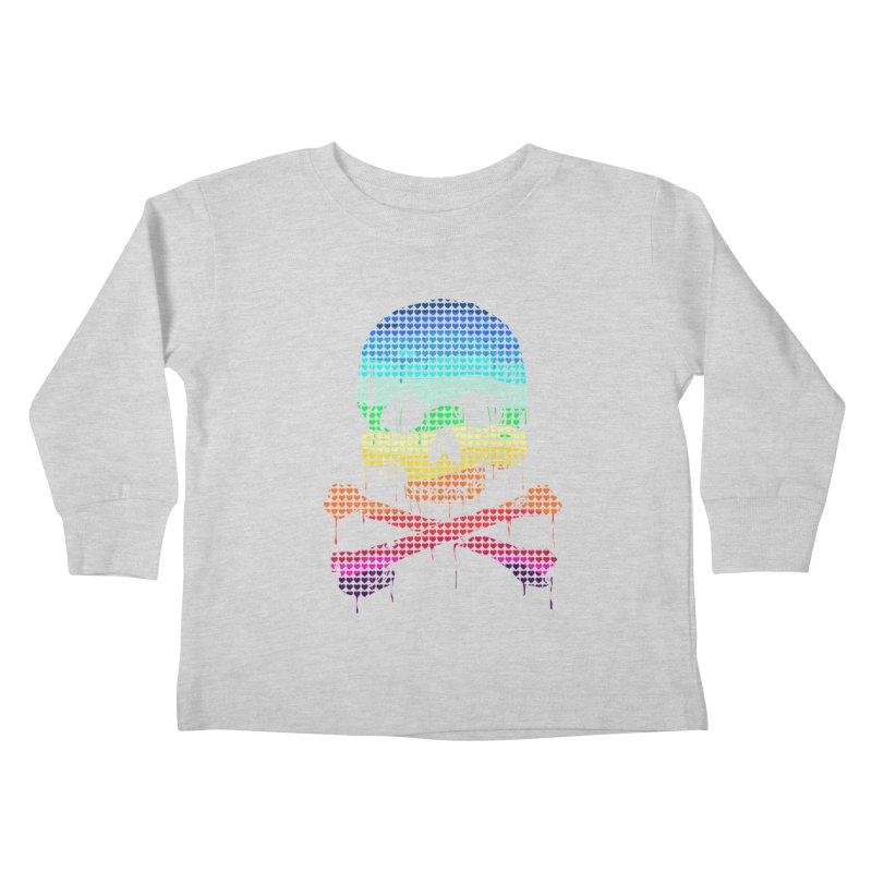 DEADLY IN LOVE WITH COLORS Kids Toddler Longsleeve T-Shirt by silenTOP Artist Shop