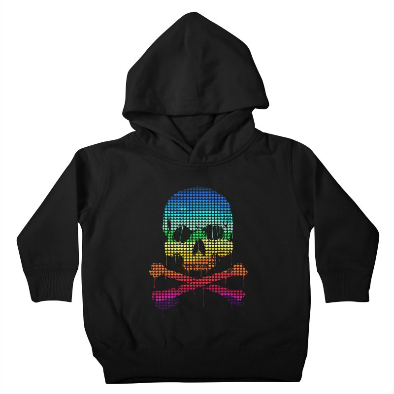 DEADLY IN LOVE WITH COLORS Kids Toddler Pullover Hoody by silenTOP Artist Shop