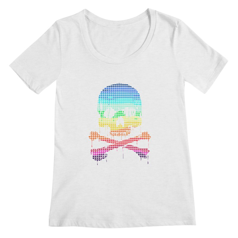DEADLY IN LOVE WITH COLORS Women's Scoopneck by silenTOP Artist Shop