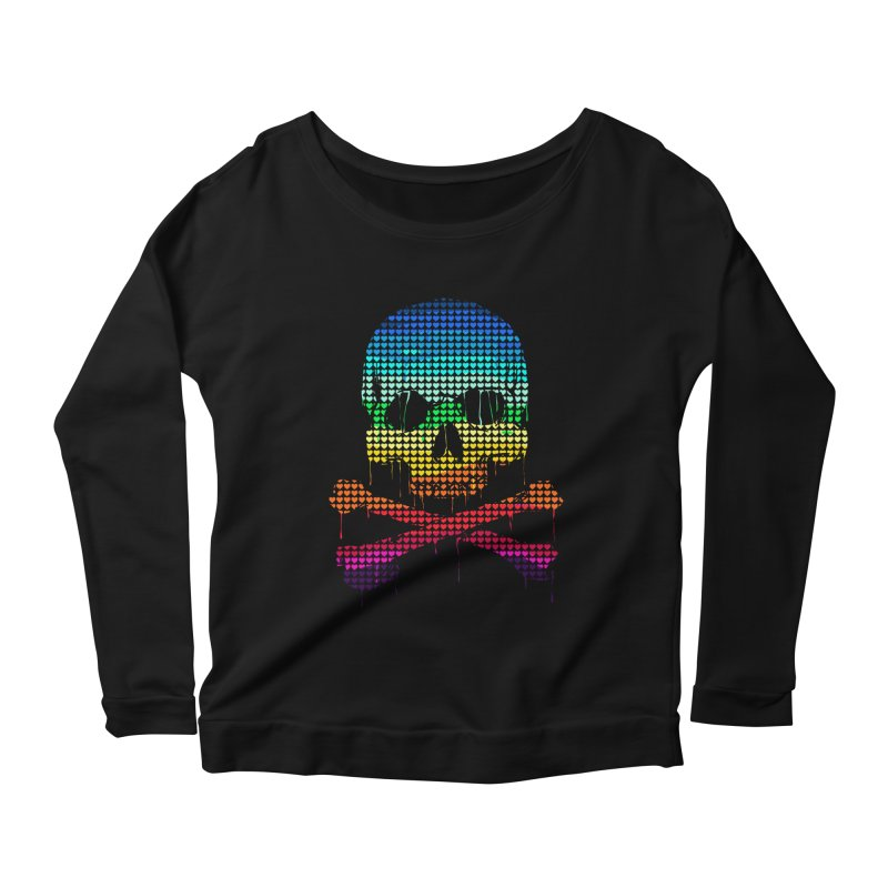 DEADLY IN LOVE WITH COLORS Women's Scoop Neck Longsleeve T-Shirt by silenTOP Artist Shop