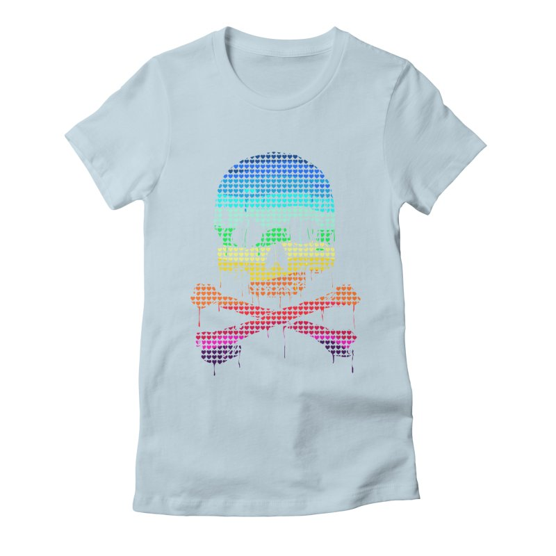 DEADLY IN LOVE WITH COLORS Women's Fitted T-Shirt by silenTOP Artist Shop