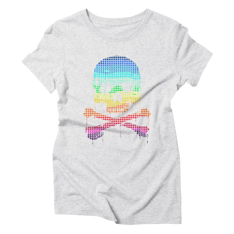 DEADLY IN LOVE WITH COLORS Women's Triblend T-Shirt by silenTOP Artist Shop
