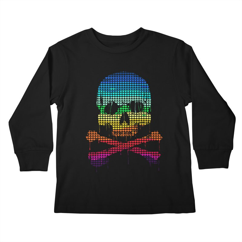 DEADLY IN LOVE WITH COLORS Kids Longsleeve T-Shirt by silenTOP Artist Shop