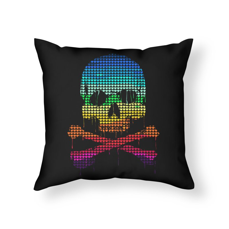 DEADLY IN LOVE WITH COLORS Home Throw Pillow by silenTOP Artist Shop
