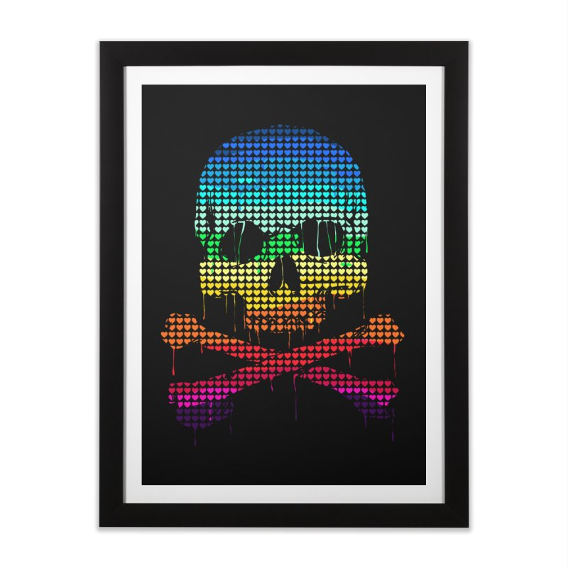 DEADLY IN LOVE WITH COLORS Home Framed Fine Art Print by silenTOP Artist Shop
