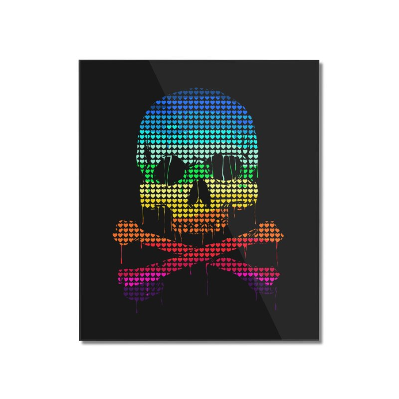 DEADLY IN LOVE WITH COLORS Home Mounted Acrylic Print by silenTOP Artist Shop