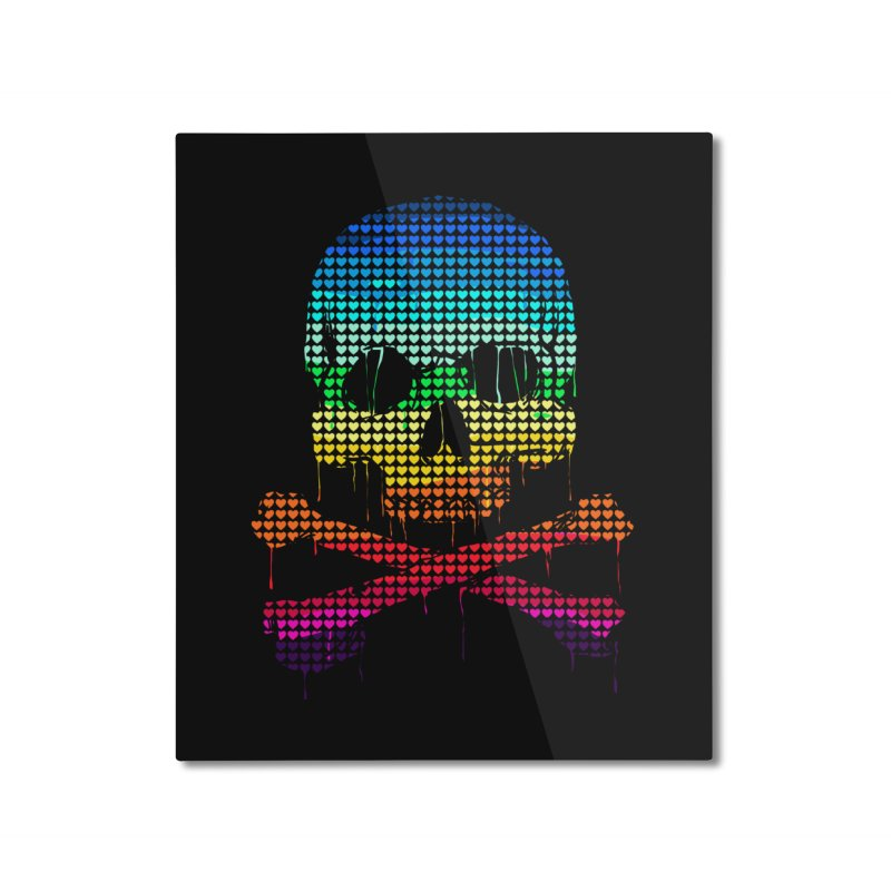 DEADLY IN LOVE WITH COLORS Home Mounted Aluminum Print by silenTOP Artist Shop