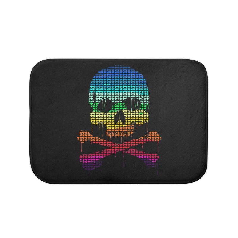 DEADLY IN LOVE WITH COLORS Home Bath Mat by silenTOP Artist Shop