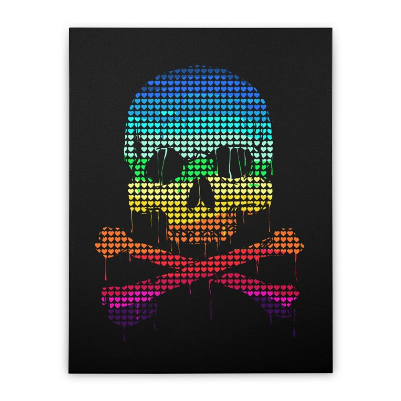 DEADLY IN LOVE WITH COLORS Home Stretched Canvas by silenTOP Artist Shop