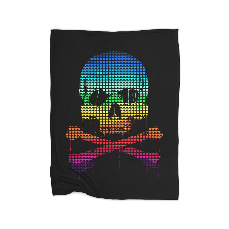 DEADLY IN LOVE WITH COLORS Home Blanket by silenTOP Artist Shop