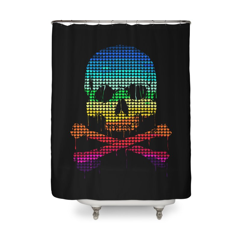 DEADLY IN LOVE WITH COLORS Home Shower Curtain by silenTOP Artist Shop