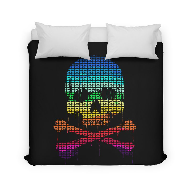DEADLY IN LOVE WITH COLORS Home Duvet by silenTOP Artist Shop