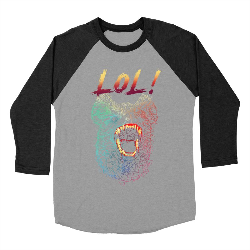 LOL! Women's Baseball Triblend T-Shirt by silenTOP Artist Shop