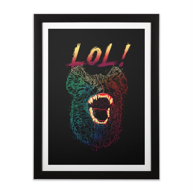 LOL! Home Framed Fine Art Print by silenTOP Artist Shop
