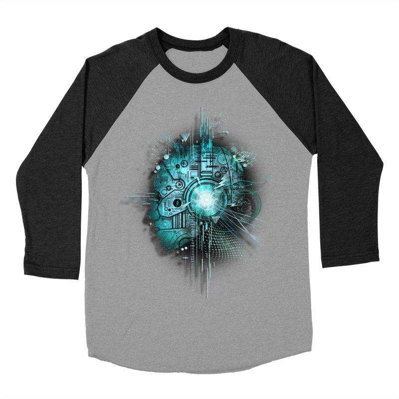 Techno Men's Baseball Triblend T-Shirt by silentOp's Artist Shop