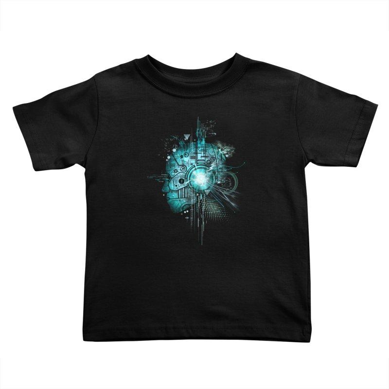 Techno Kids Toddler T-Shirt by silentOp's Artist Shop